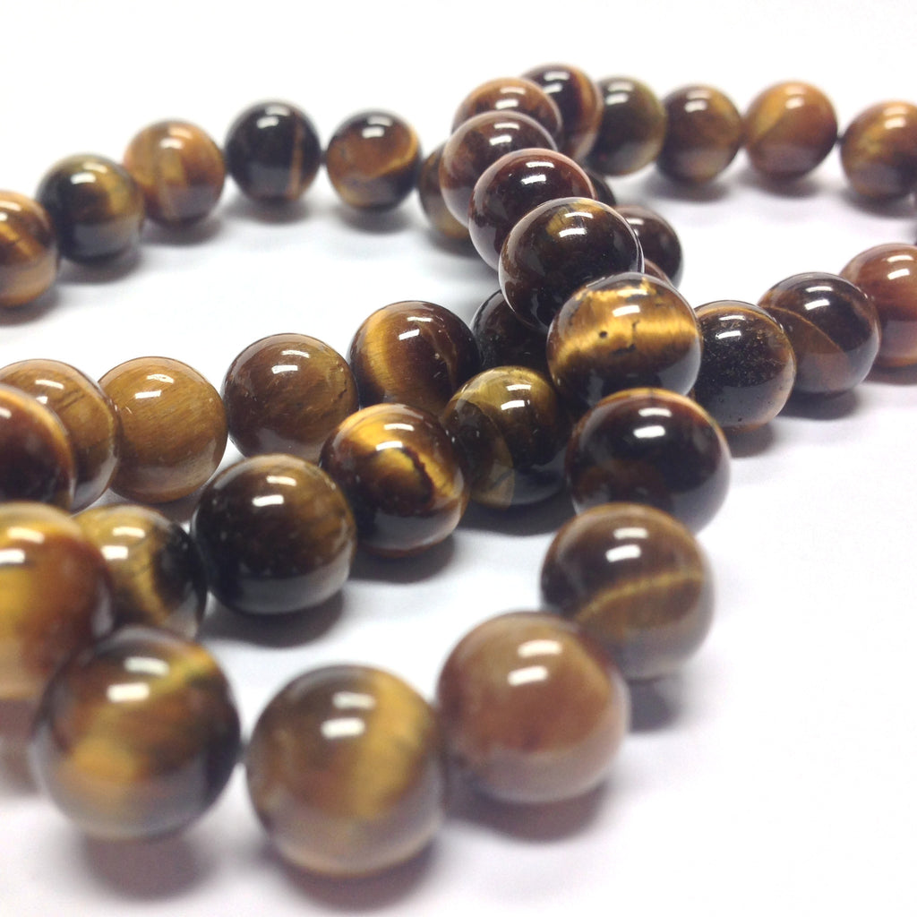 "10MM Tigereye Gemstone Beads 16"" (40 pieces)"