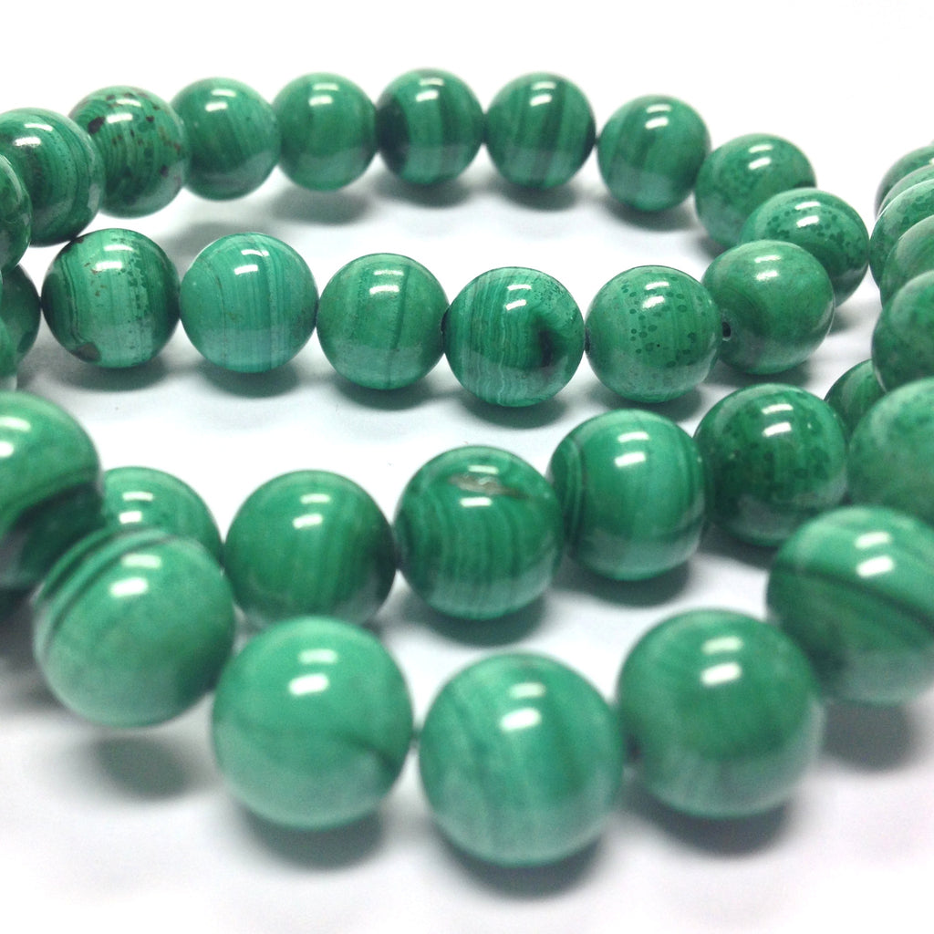 "10MM Malachite Gemstone Beads 16"" (40 pieces)"