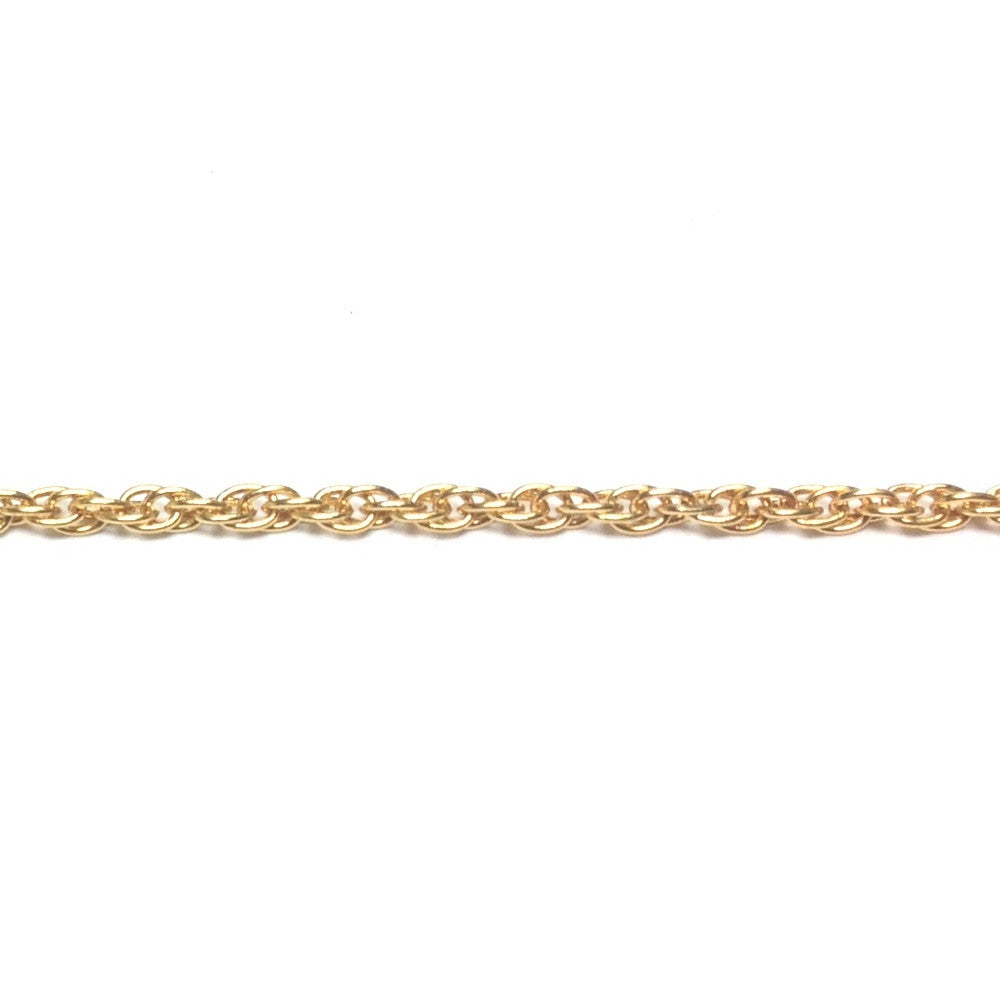 Gold Tone Plated Chain Brass Rope (1 foot)