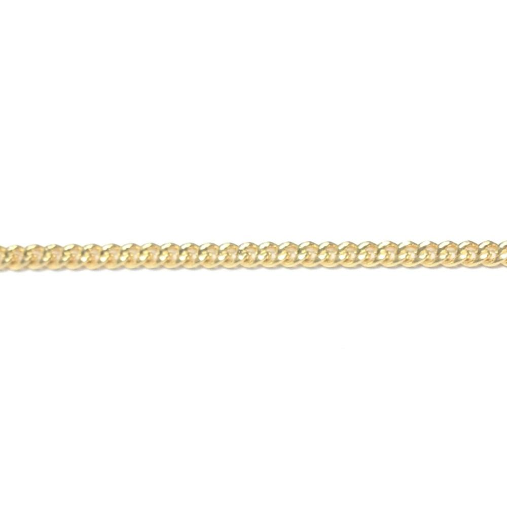 Gold Plated Chain Brass Curb (1 foot)