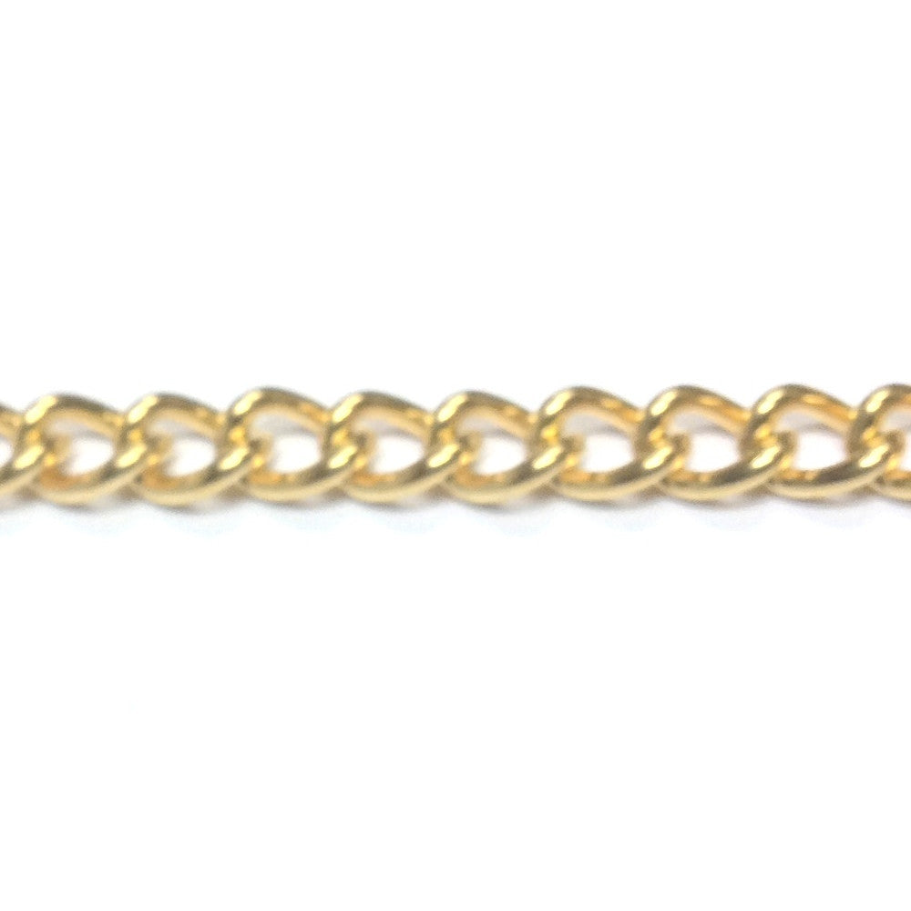 Gold Tone Plated Chain Steel Curb (1 foot)