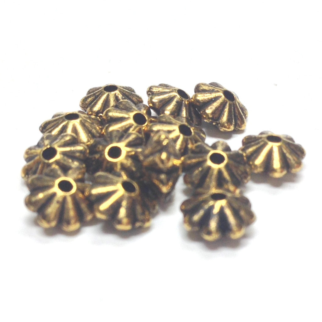 3X6MM Ant.Ham.Gold Daisy Rondel Bead (144 pieces)