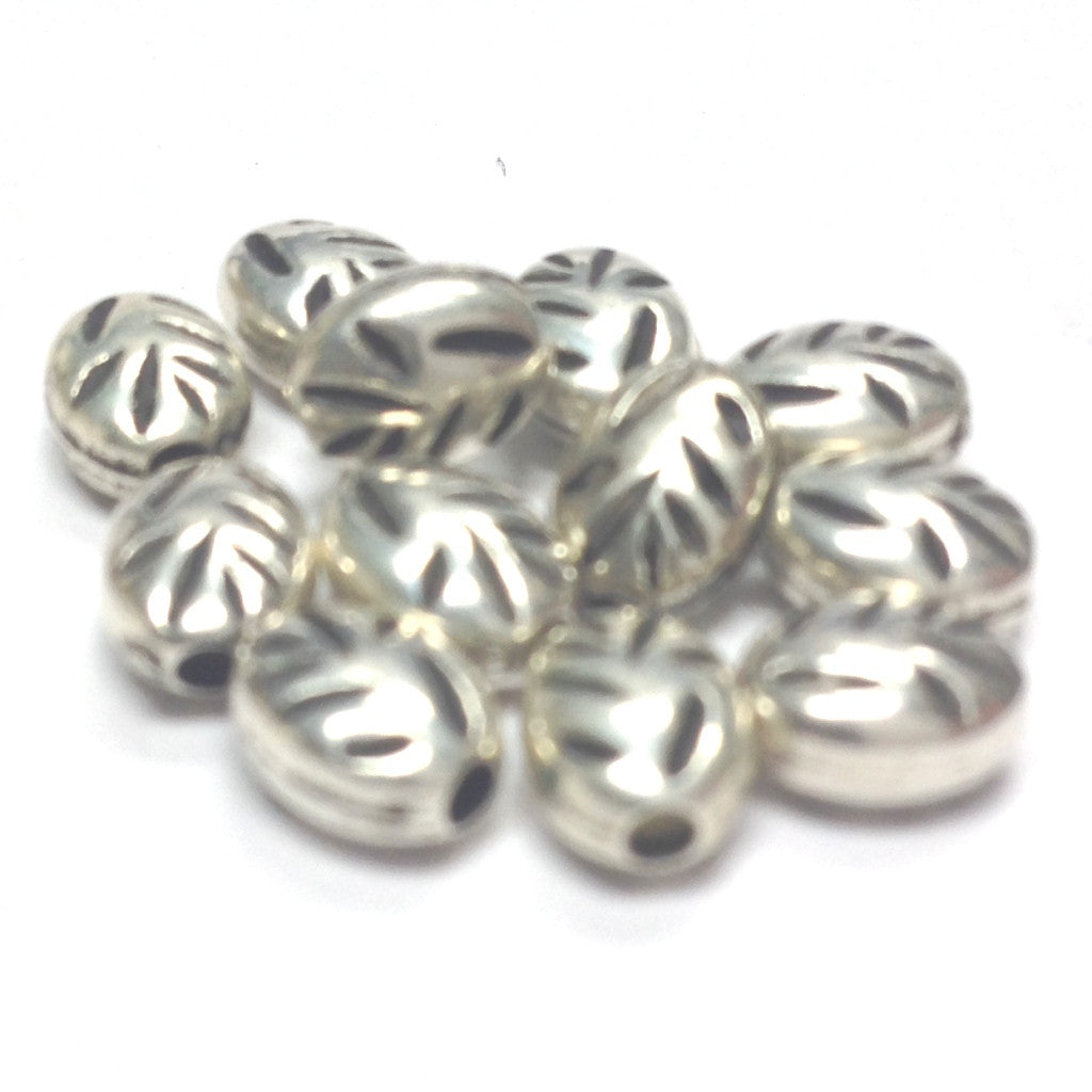 7X5MM Ant.Silver Biwa Bead (144 pieces)