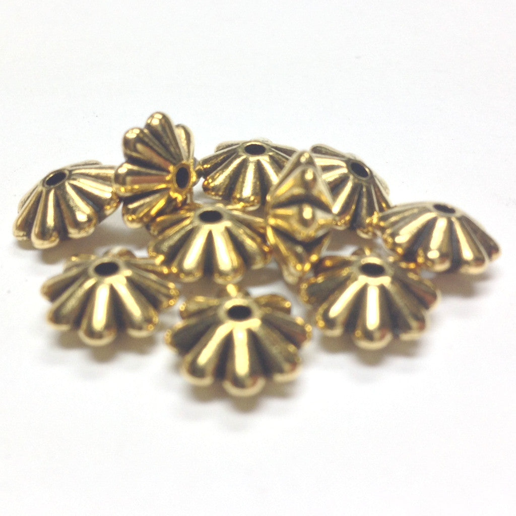 10X5MM Ant.Ham.Gold Daisy Rondel Bead (144 pieces)