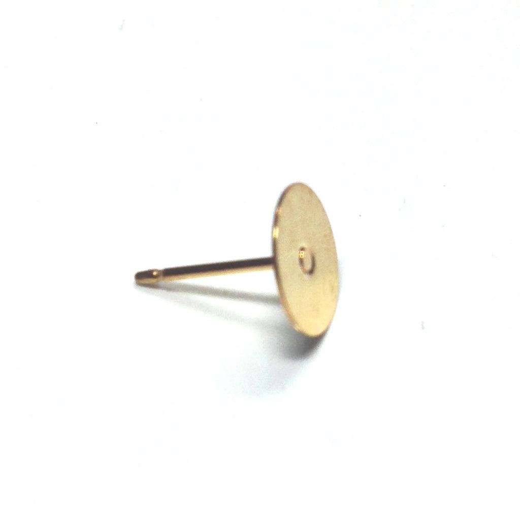 8MM Gold Pad With Post (144 pieces)