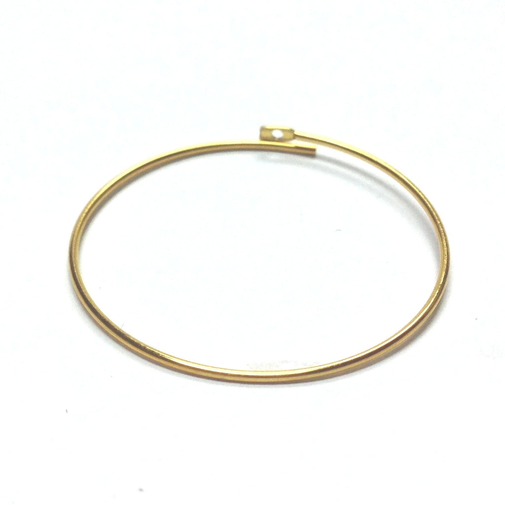 "1/2"" Round Wire Hoop With Flat End & Hole Gold (144 pieces)"