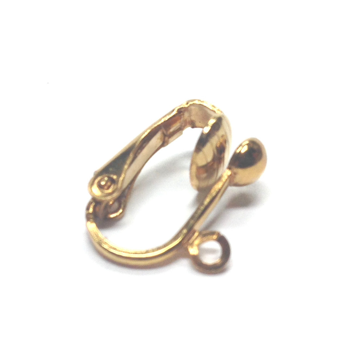 4MM Half Ball Earclip With Loop Gold (144 pieces)