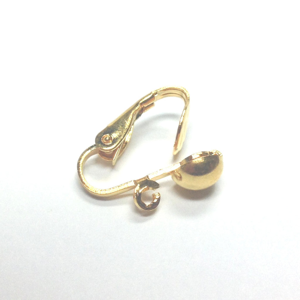 6.5MM Half Ball Earclip With Loop Gold (144 pieces)