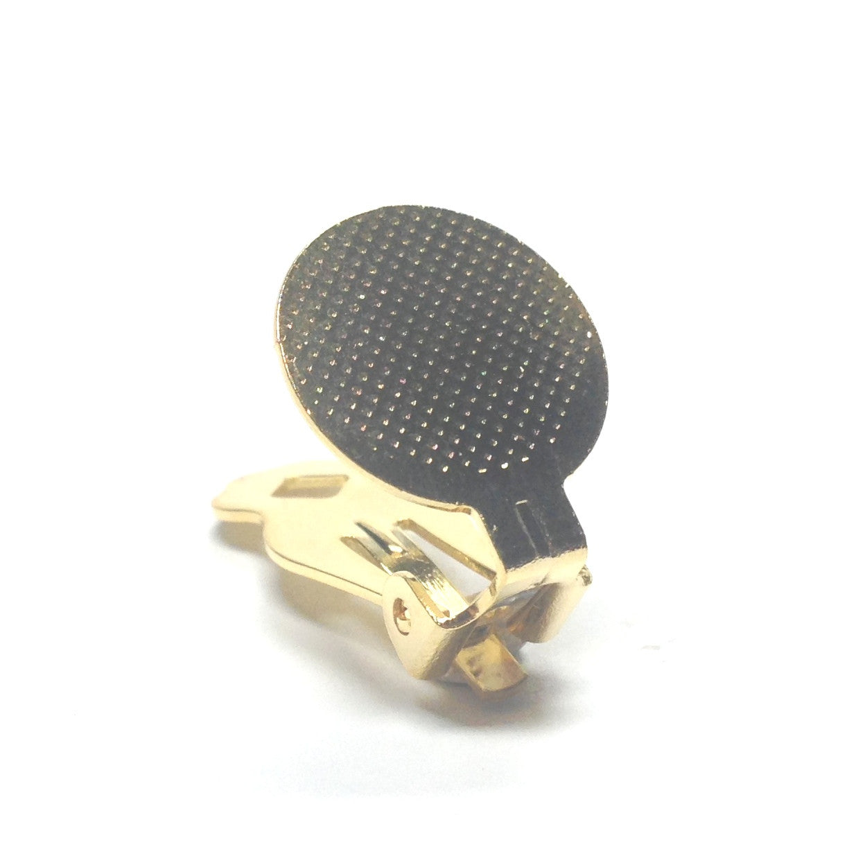15MM Pad Special Earclip Gold (144 pieces)