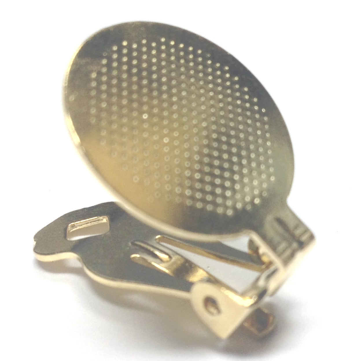 18MM Pad Special Earclip Gold (144 pieces)