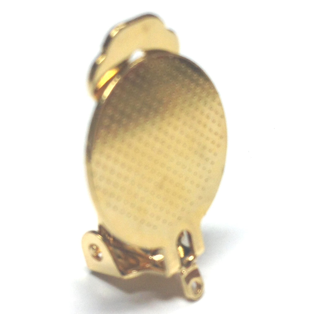 15MM Pad Special Earclip With Loop Gold (144 pieces)