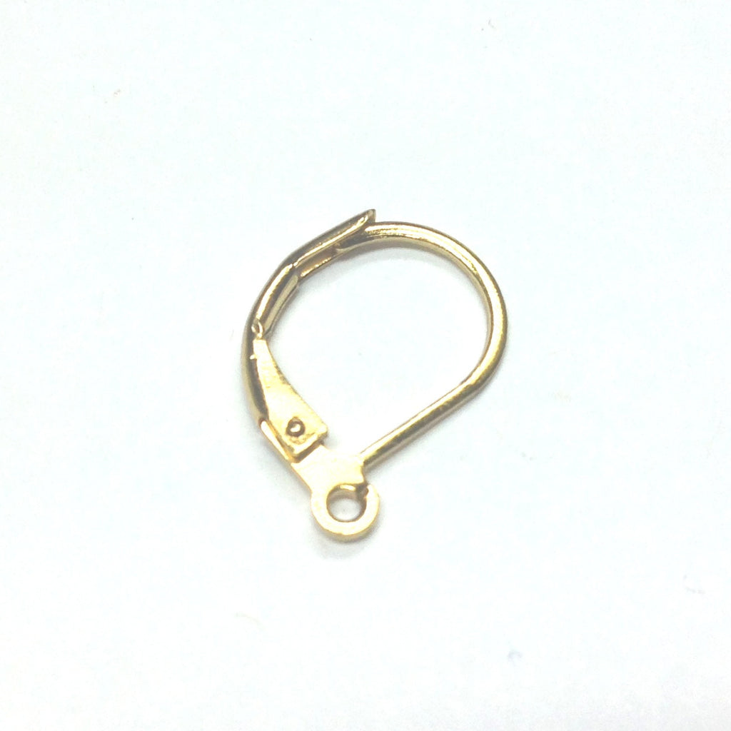 Gold Lever Back Ear Wire With Loop (144 pieces)