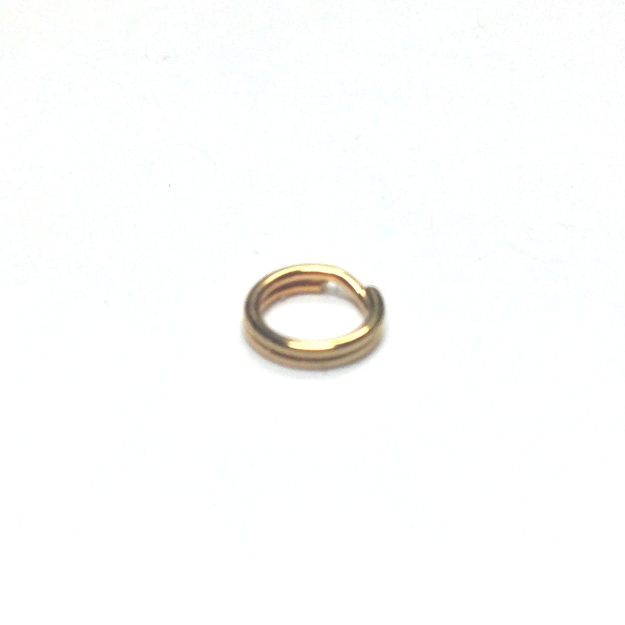 6MM Split Ring Gold Plate (144 pieces)