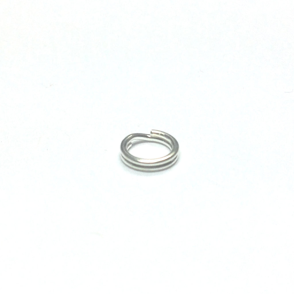 6MM Split Ring Silver Plate (144 pieces)