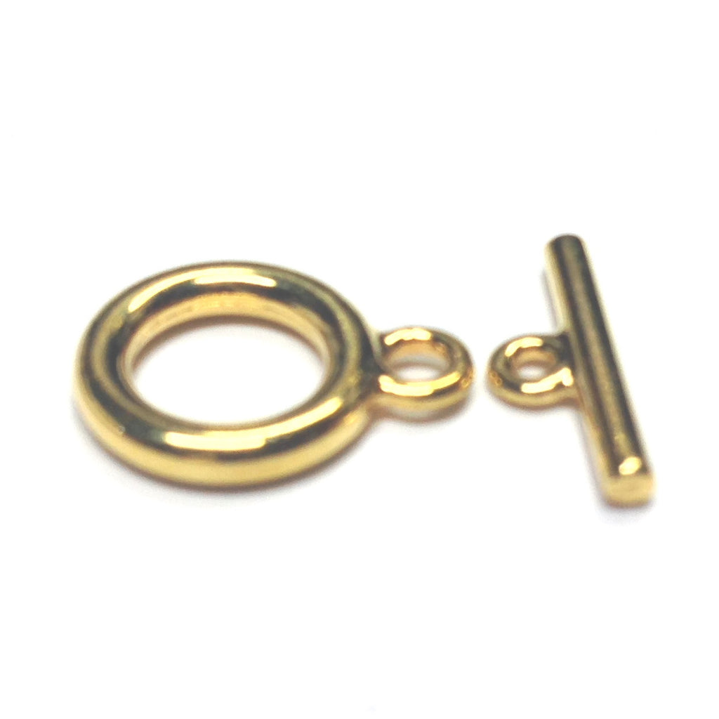 11MM Gold Plate Toggle Clasp (2 Piece Set) (144x2 pieces)