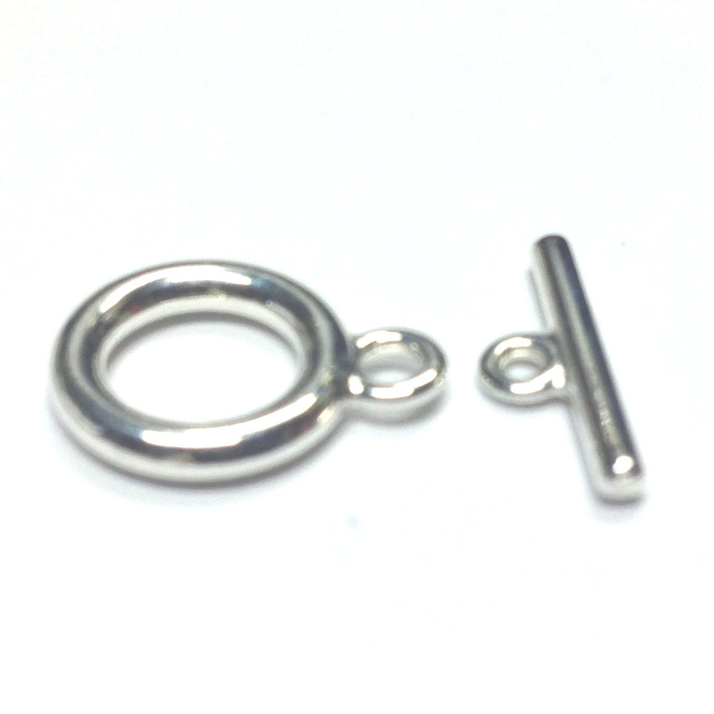 11MM Silver Plate Toggle Clasp (2 Piece Set) (144x2 pieces)