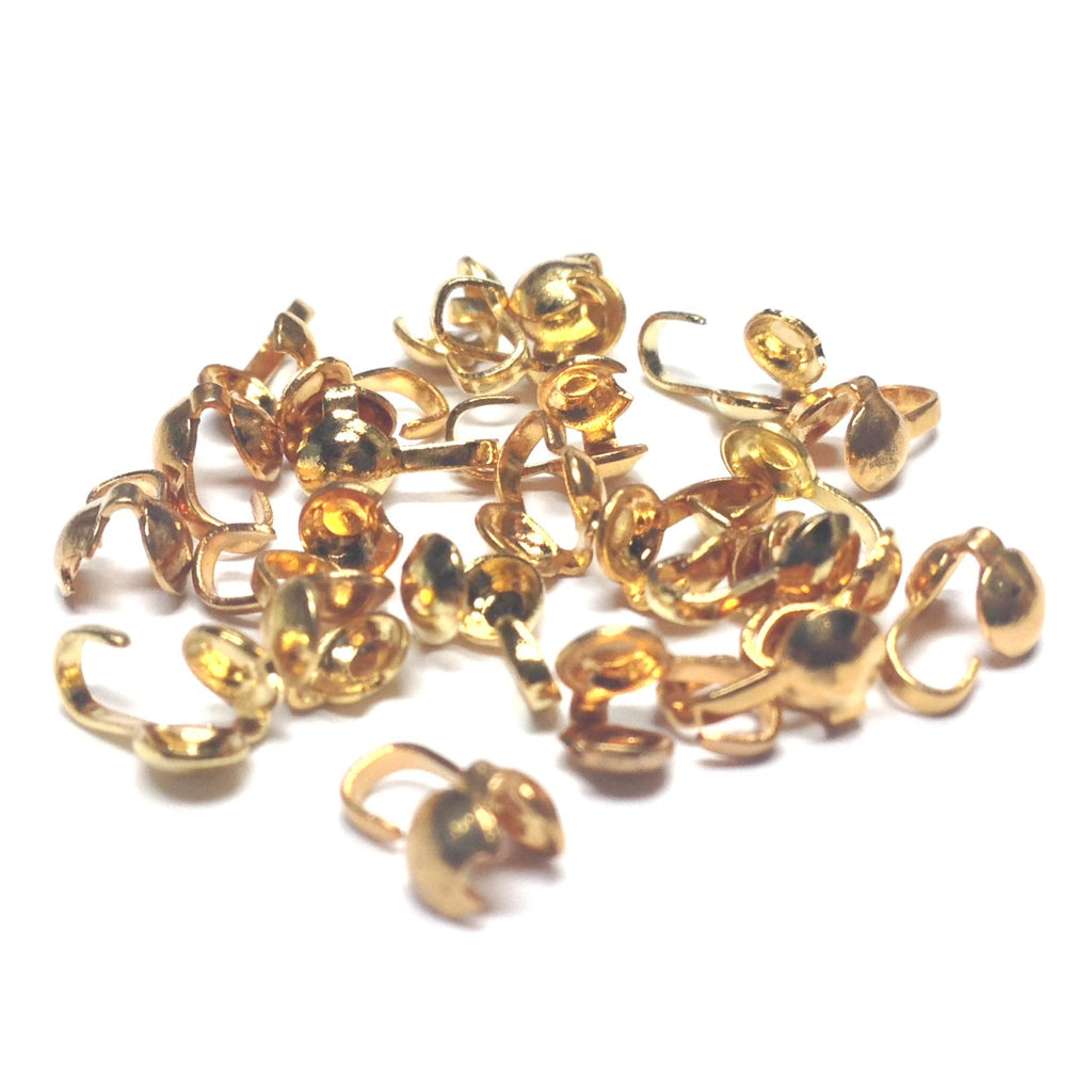 Foldover Bead Tip With O Hole Gold (144 pieces)