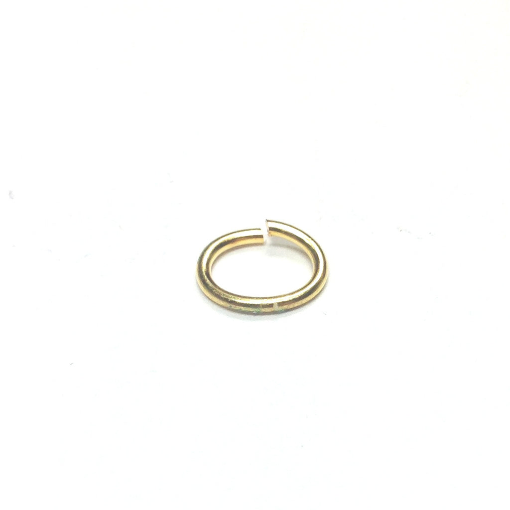 06 (3X4.5MM) .032 Oval Brass Jump Ring 1 Lb. (~12096 pieces)