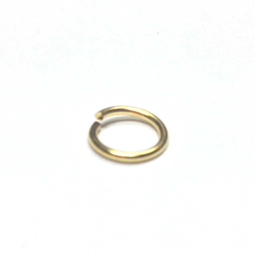 R12 (15MM) .057 Brass Jump Ring 1 Lb. (~720 pieces)