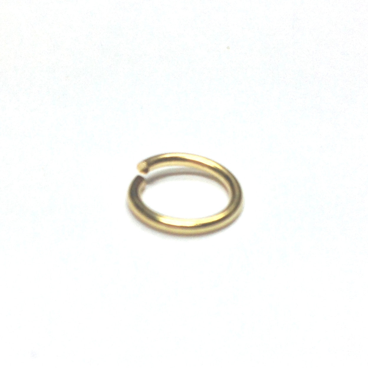 R8 (10MM) .045 Brass Jump Ring 1 Lb. (~1944 pieces)