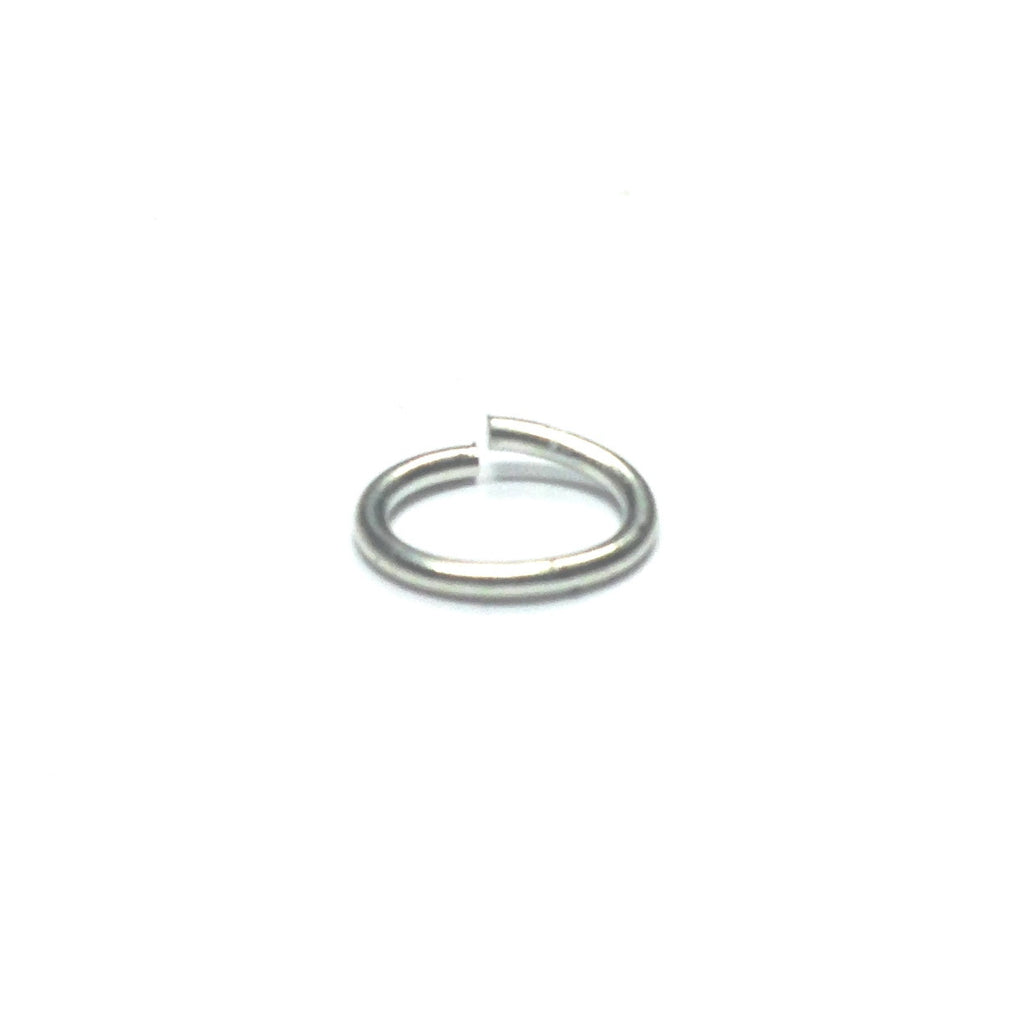 06 (3X4.5MM) .032 Oval Nickel Jump Ring 1 Lb. (~12096 pieces)