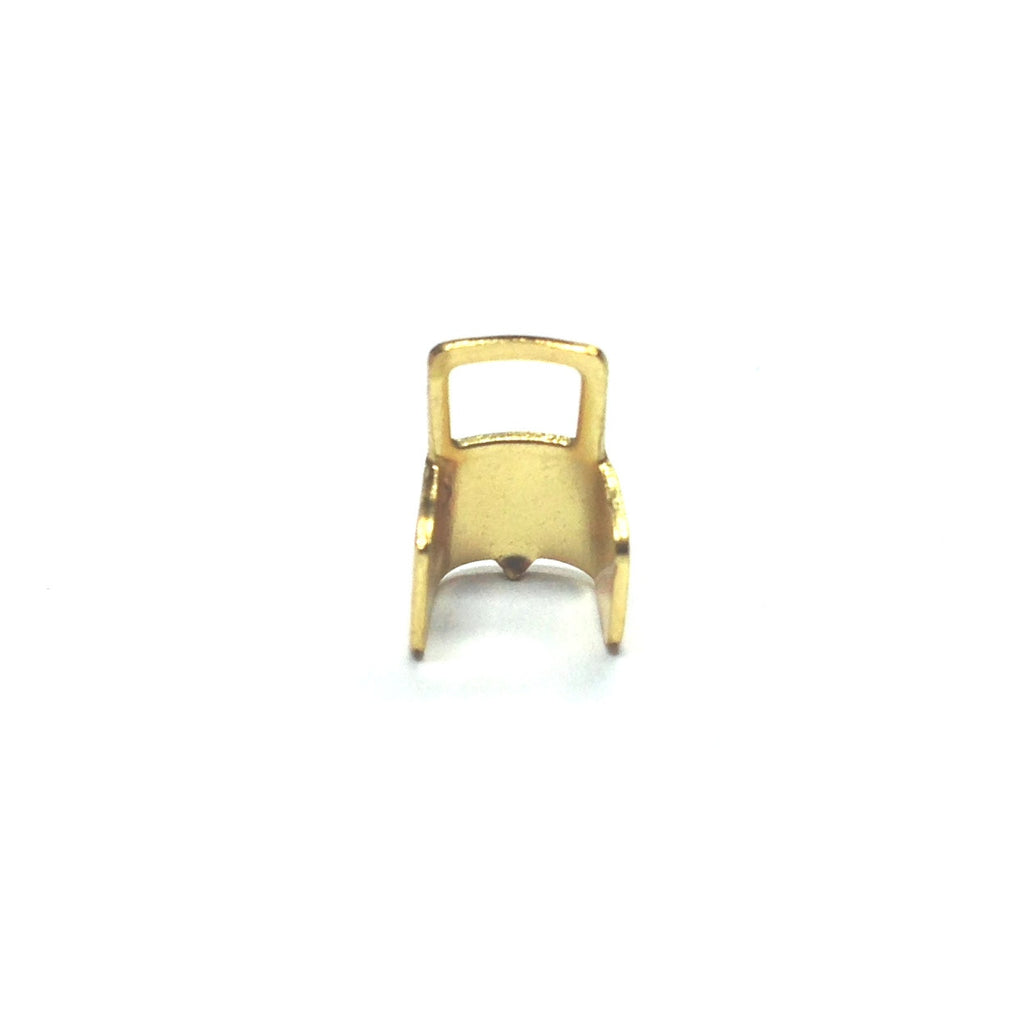 4X6MM Connector With Square Loop Gilt (144 pieces)