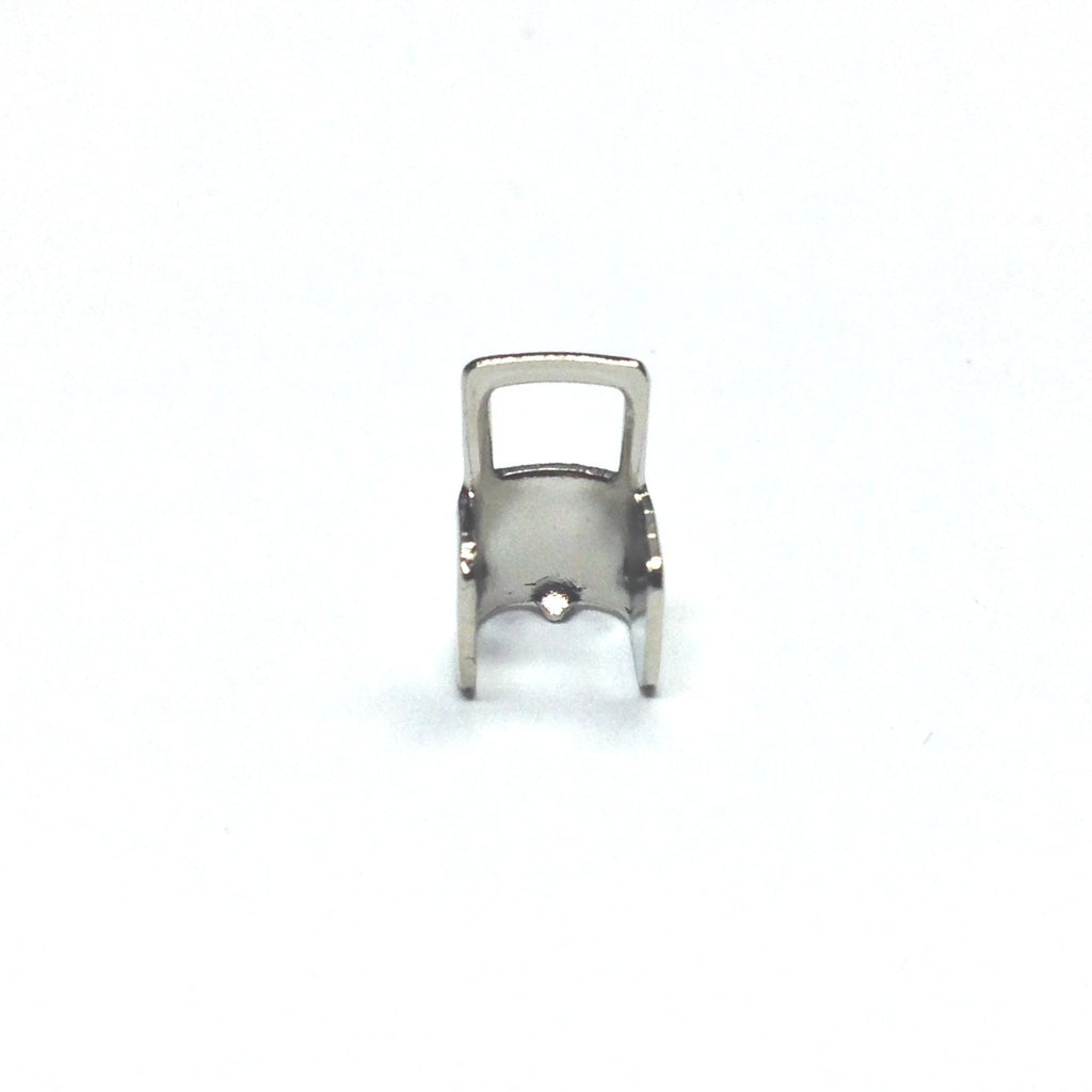 4X6MM Connector With Square Loop Nickel (144 pieces)