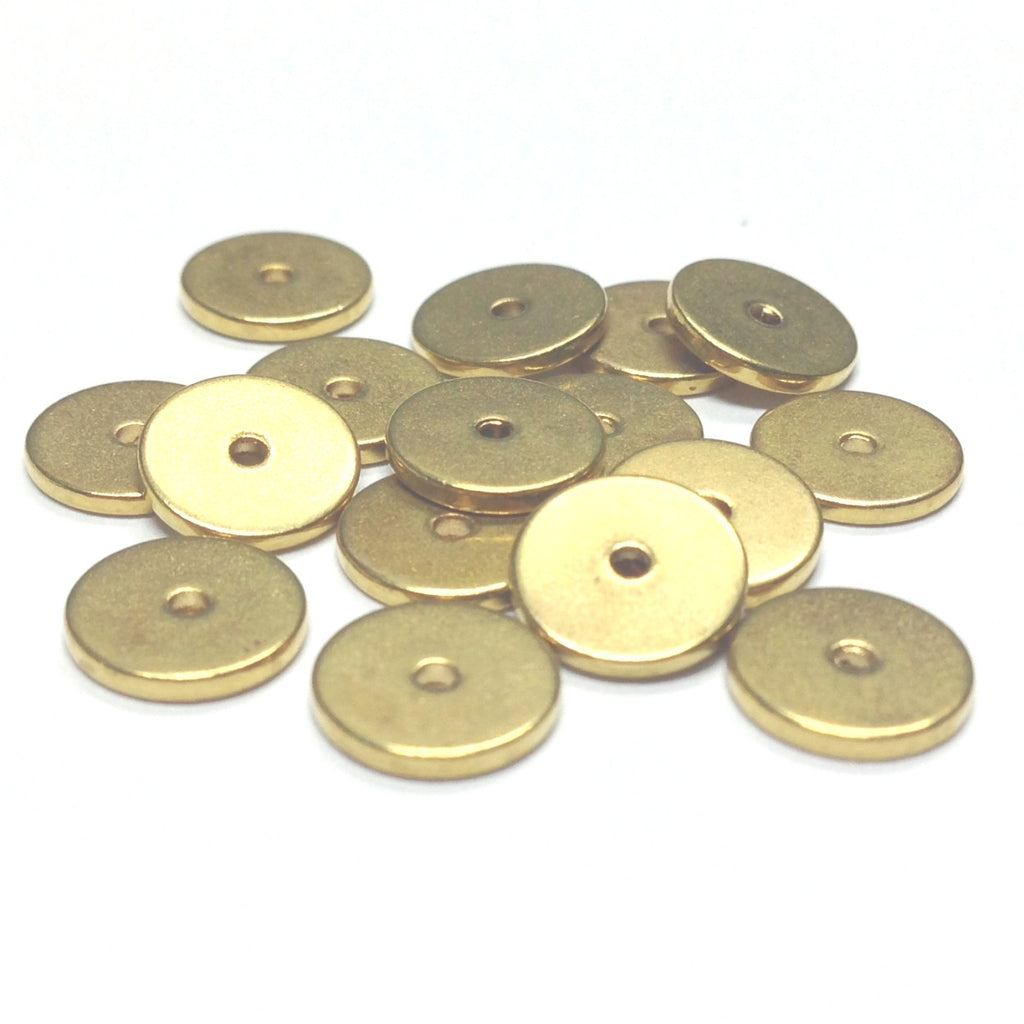8MM Gilt Spacer Disc Rondel (144 pieces)