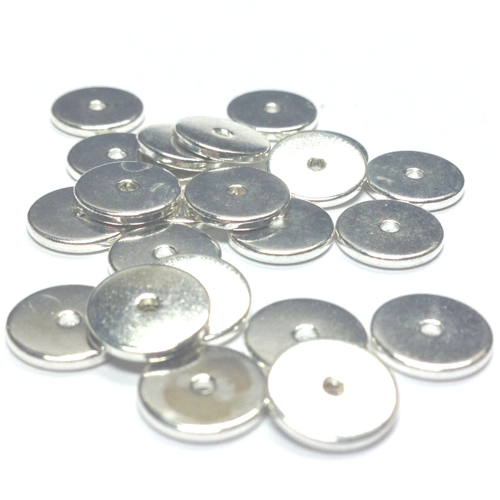 8MM Silver Spacer Disc Rondel (144 pieces)