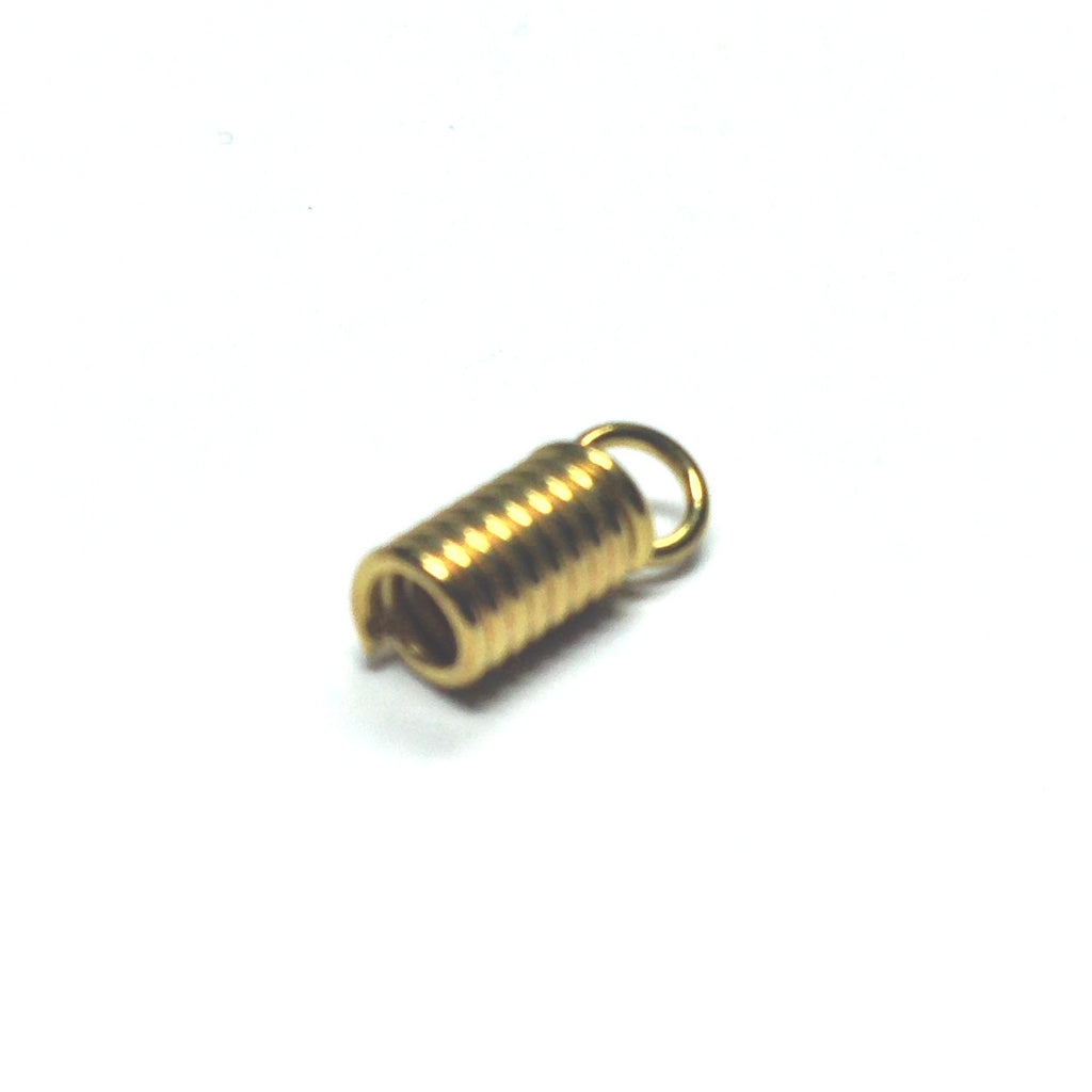 7X4MM Gilt Spring With Loop 2MM Opening (144 pieces)