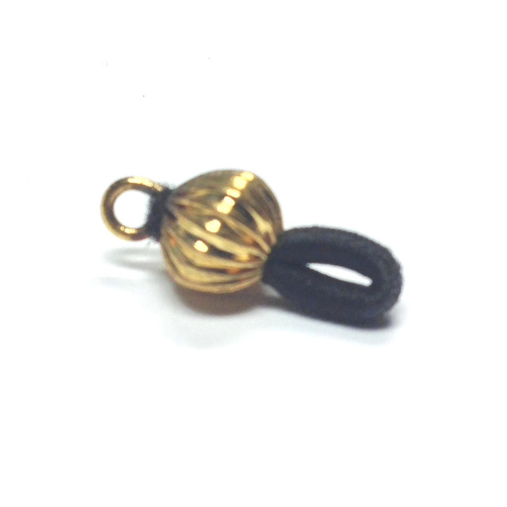 Black Elastic Eyeglass Holder With 11MM Ball & Loop Gilt (144 pieces)