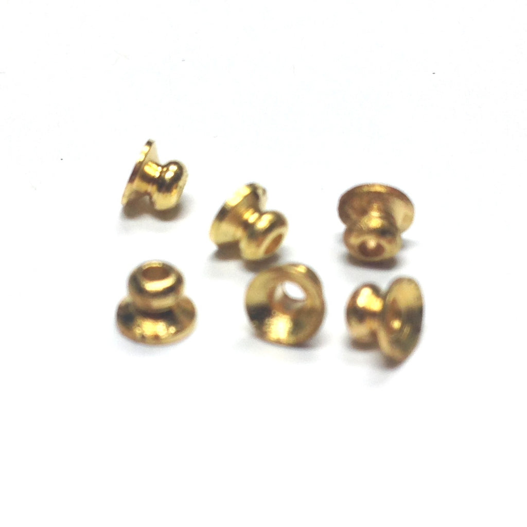 3MM Gilt Ball With 4MM Bead Cap (144 pieces)