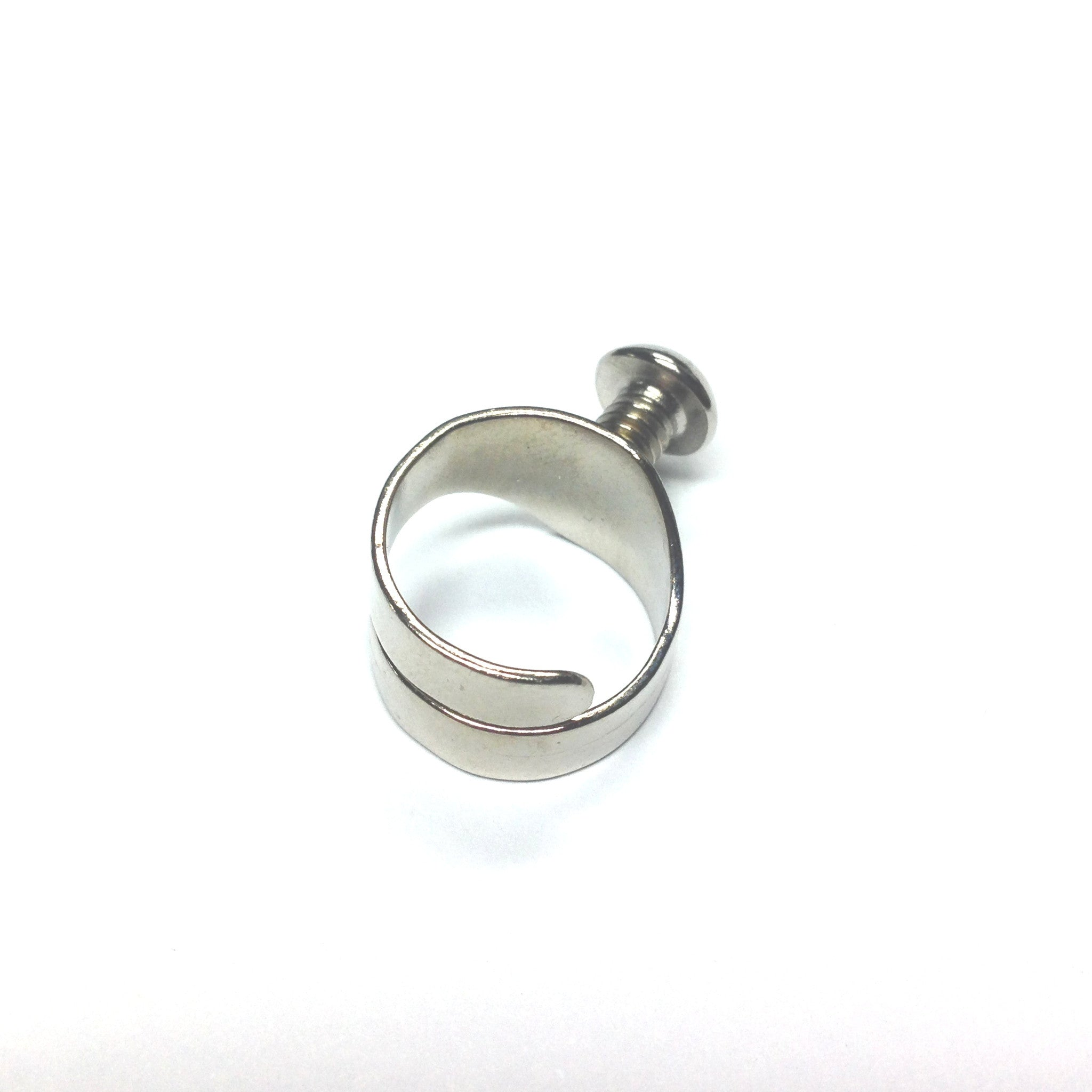 25 Matte Black Plated Open Round Jump Rings 8mm