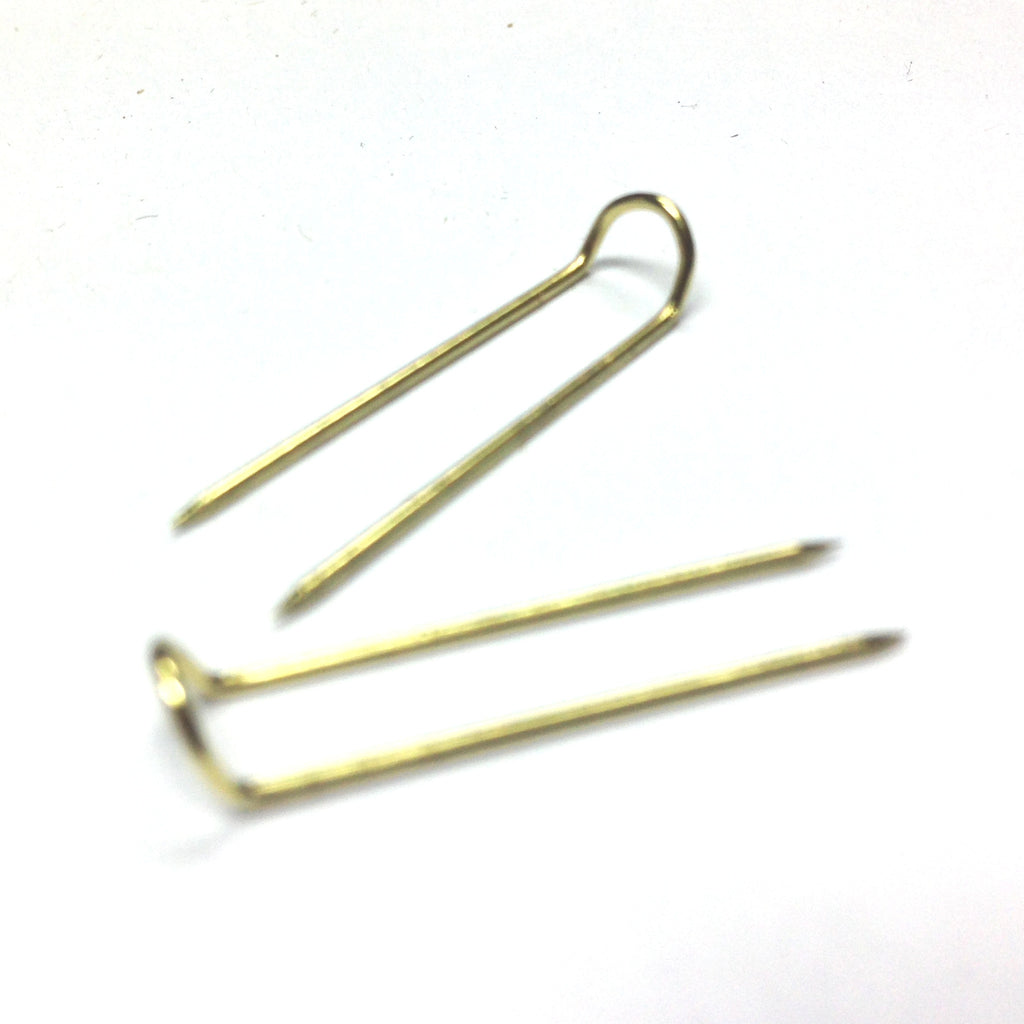 "Brass U Pins (Display) (7/8"" Long) (1000 pieces)"