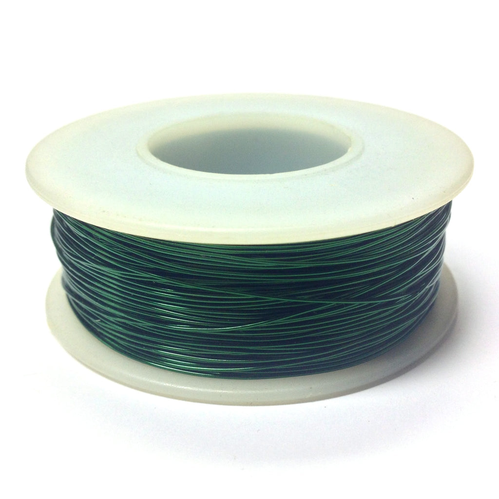 #28 Green Copper Wire 4 Oz Spool (~500 Ft) (1 pieces)