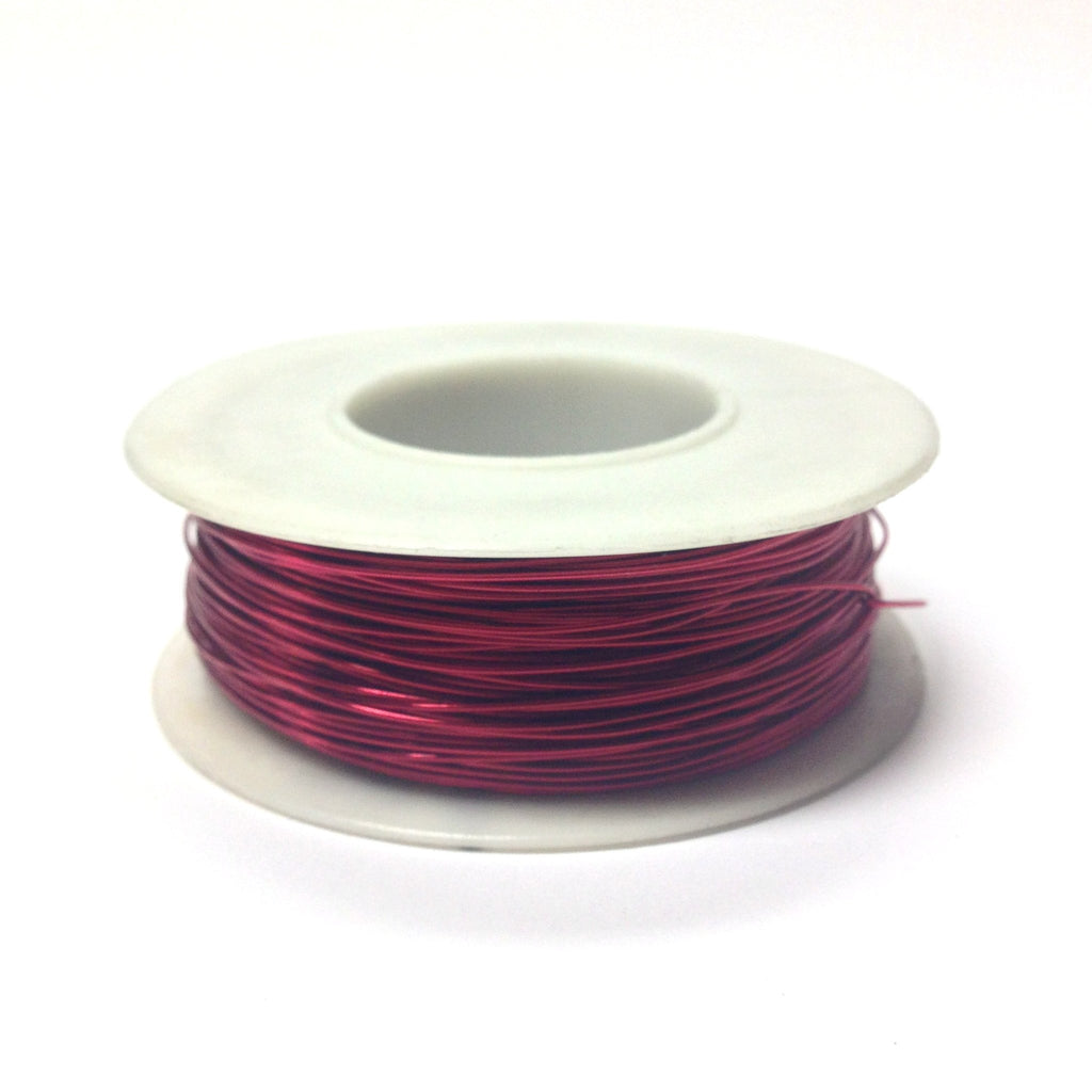 #24 Magenta Copper Wire 4 Oz Spool (~200 Ft) (1 pieces)