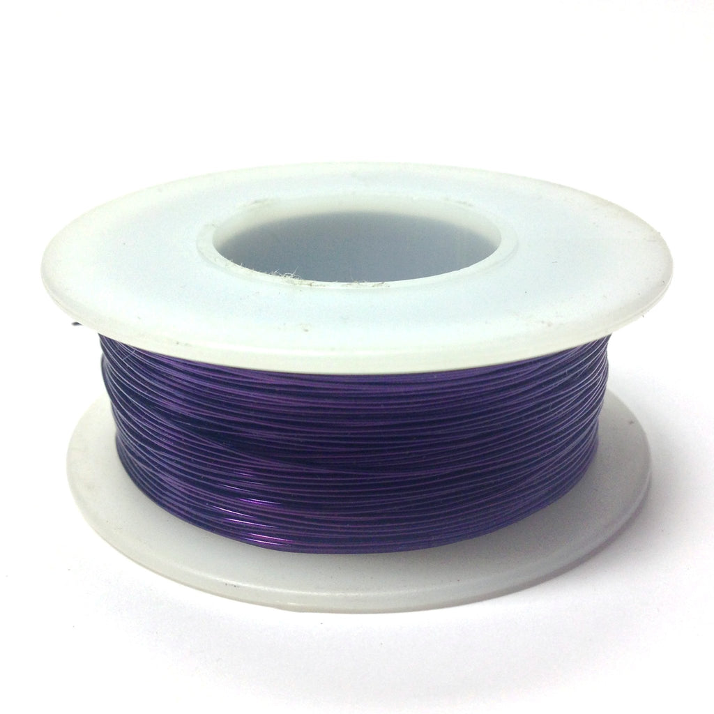 #24 Purple Copper Wire 4 Oz Spool (~200 Ft) (1 pieces)