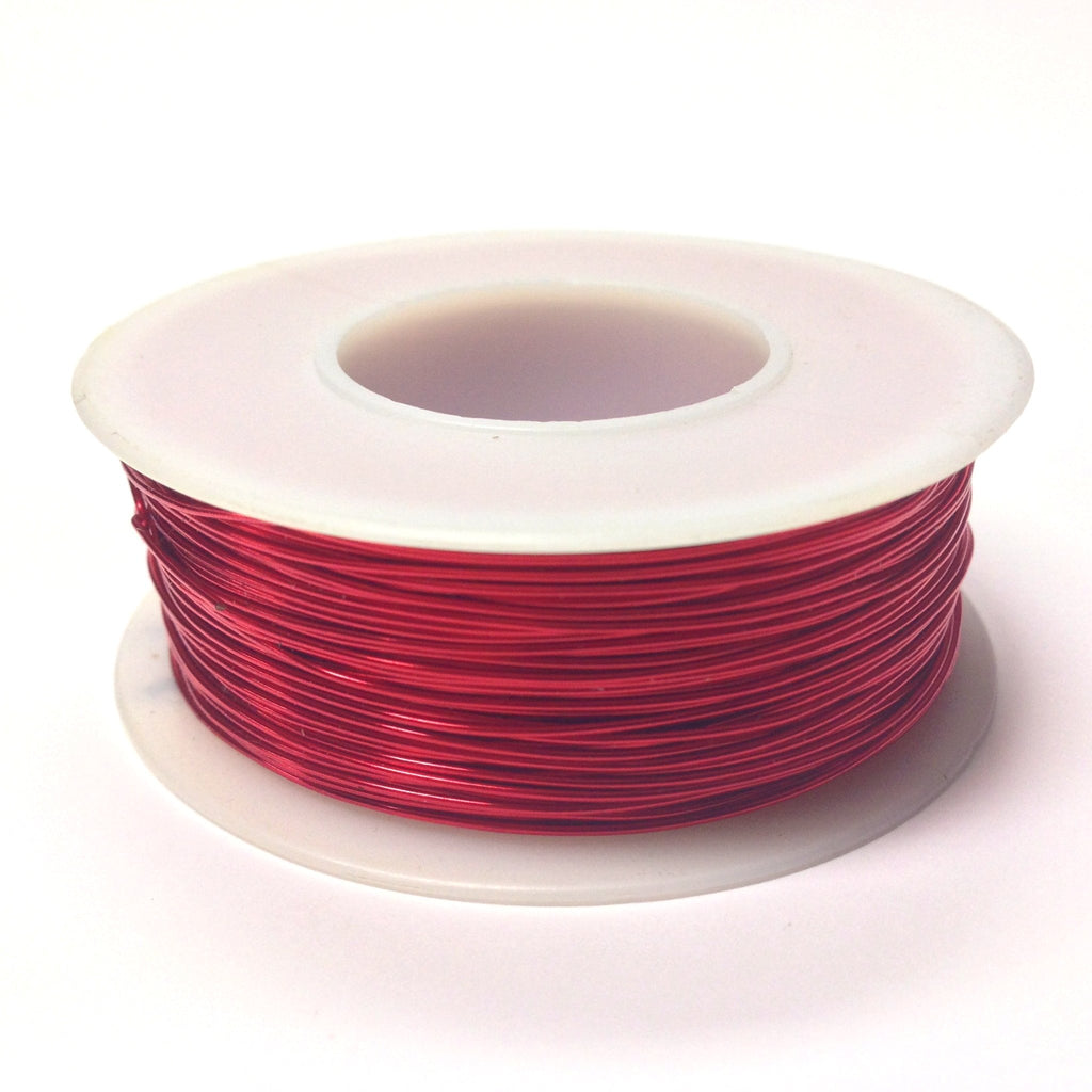 #28 Red Copper Wire 4 Oz Spool (~500 Ft)) (1 pieces)