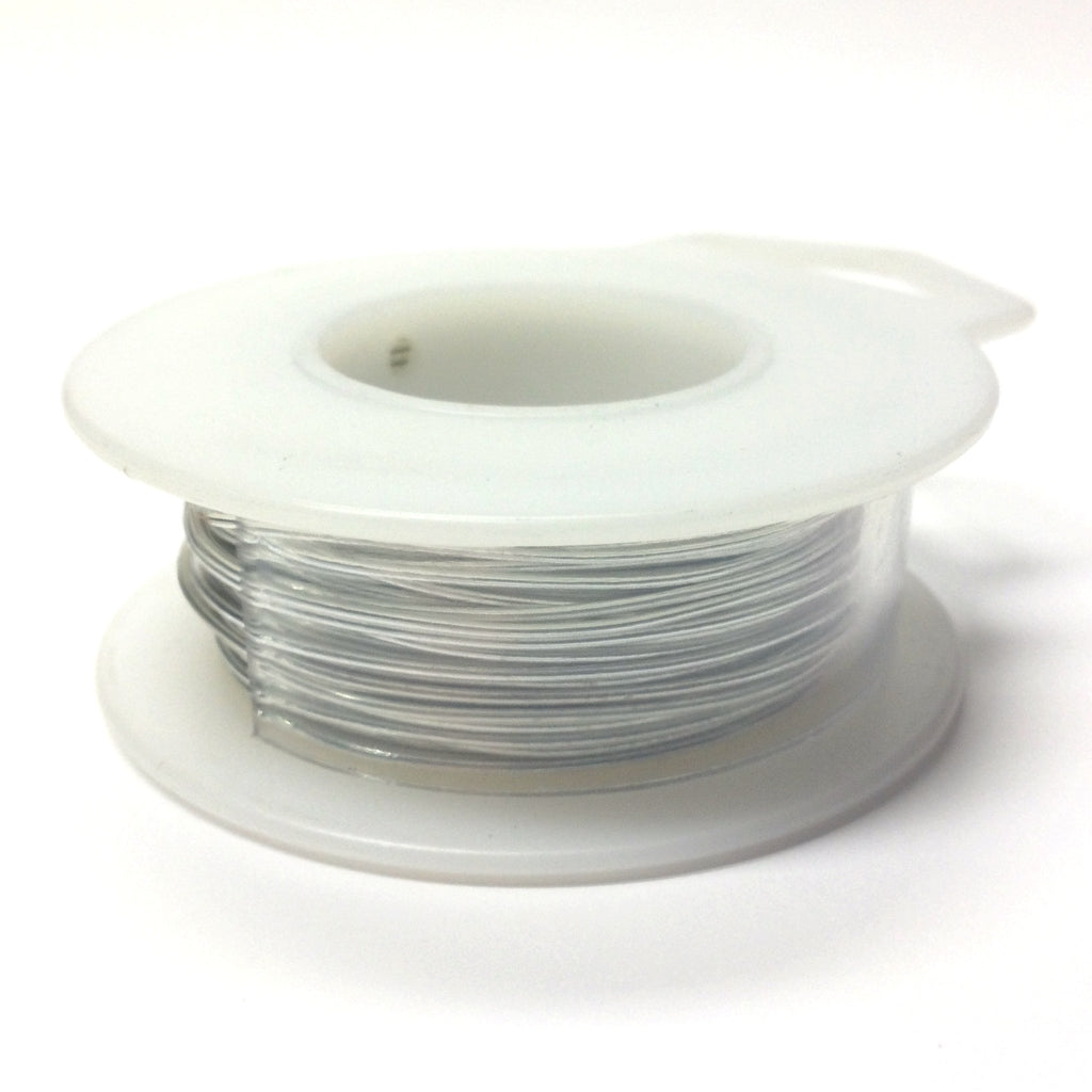 #22 Neon Silver Nontarnish Wire ~ 40 Ft/Spool (1 pieces)