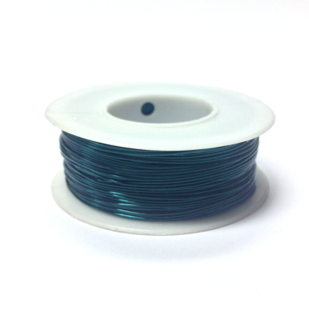 #24 Teal Copper Wire 4 Oz Spool (~200 Ft) (1 pieces)