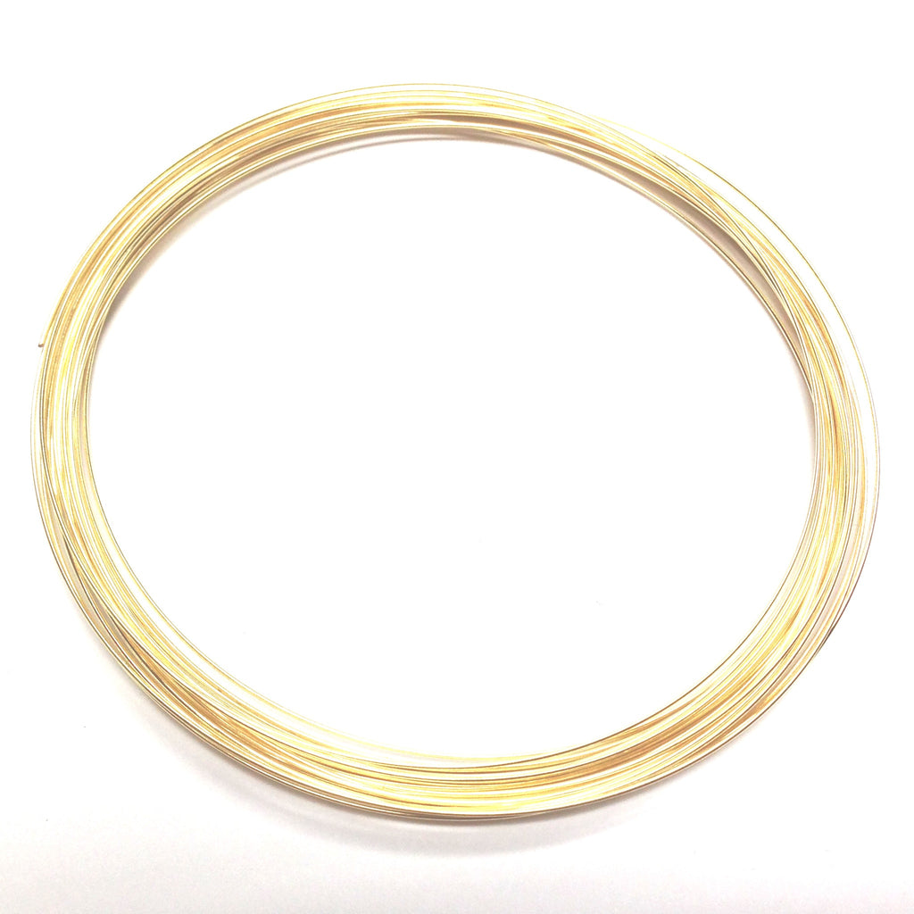 "3-3/4"" Necklace Wire .025 Gld 1 OZ. (2 Pkgs. of .50 OZ each)"