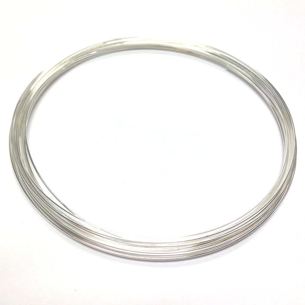 "3-3/4"" Necklace Wire .025 Sil 1 OZ. (2 Pkgs. of .50 OZ each)"