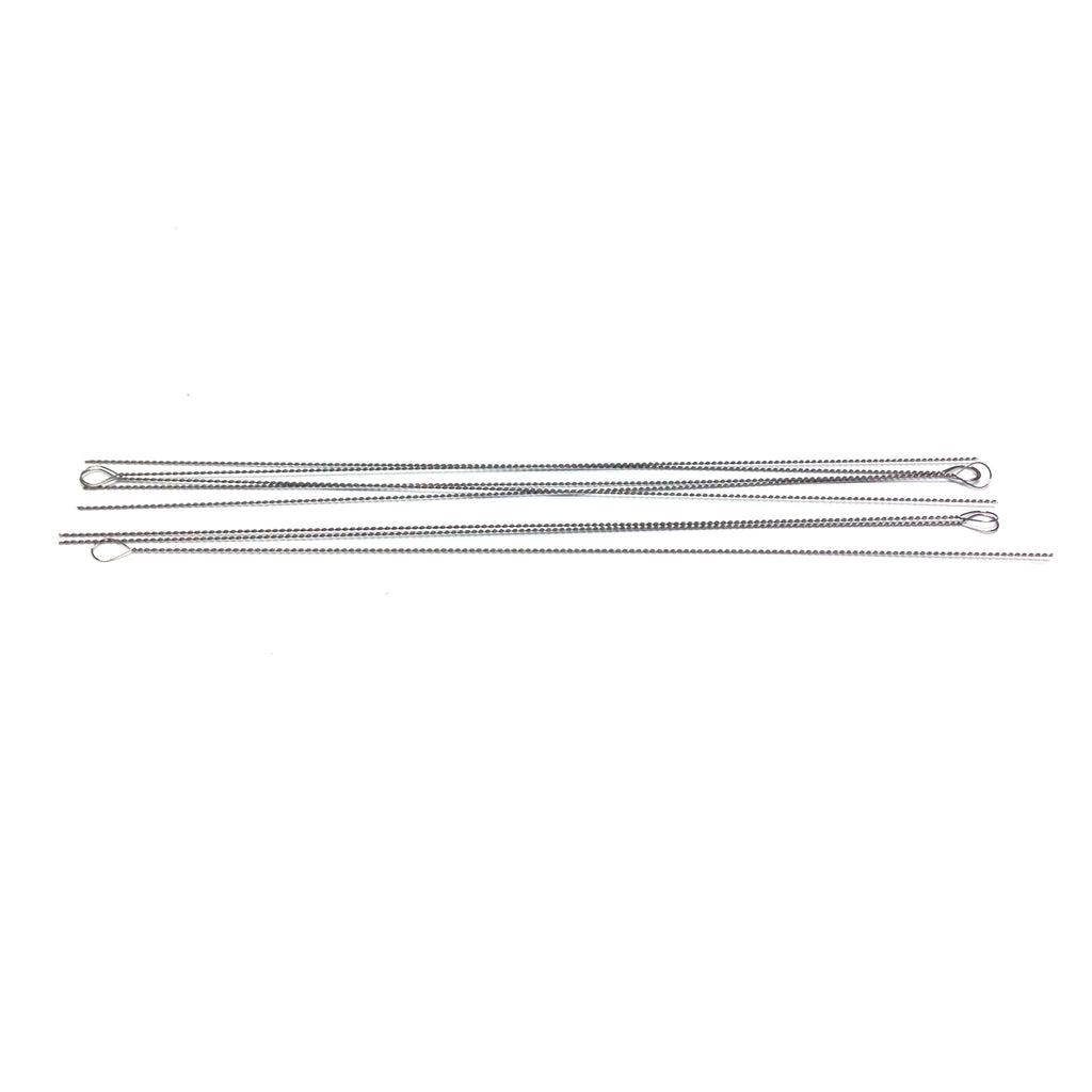 #6 (.012) Steel Twisted Needle (Rnd Eye) 50 Pcs/Pk
