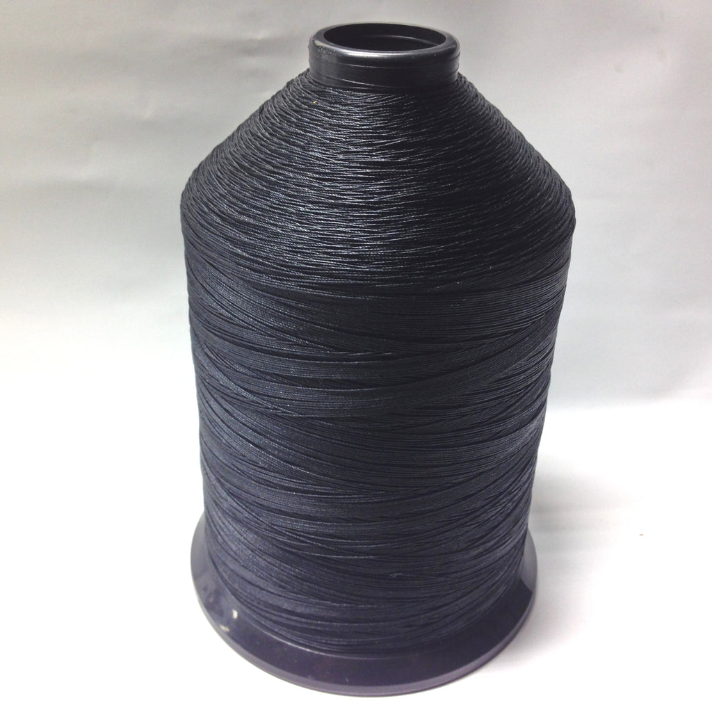 #138 Blk Bonded Nylon Thread-1/2 Lb Cone
