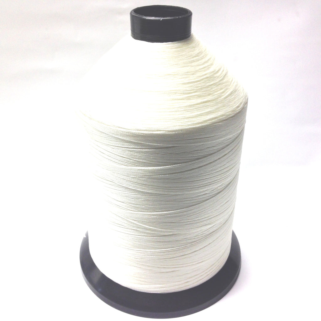 #207 Wht Bonded Nylon Thread-1/2 Lb Cone