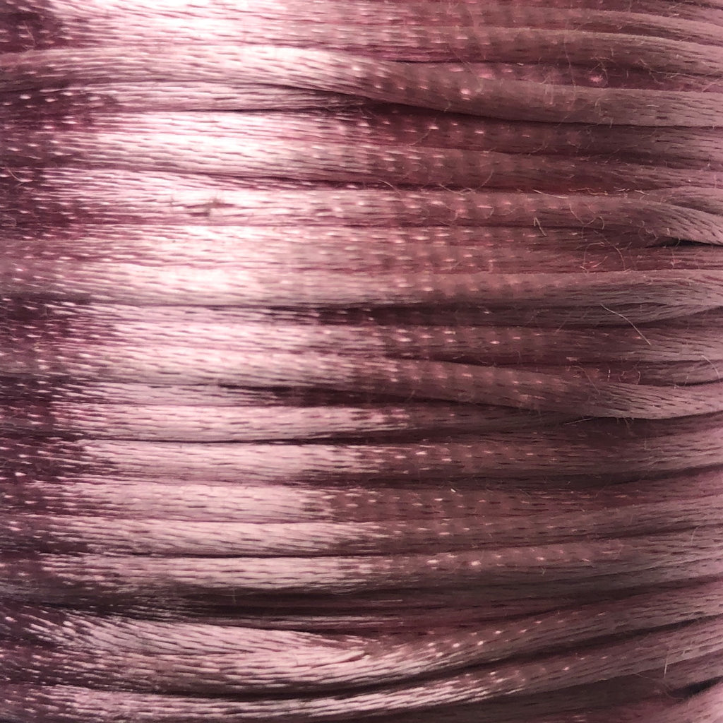 Size #1 - 2MM Antique Mauve Satin Cord (Rattail) 144 Yds