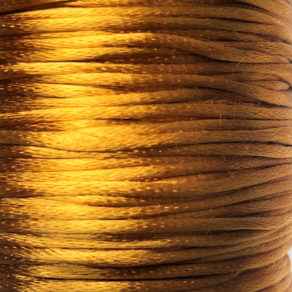 Size #1 - 2MM Camel Satin Cord (Rattail) 144 Yds
