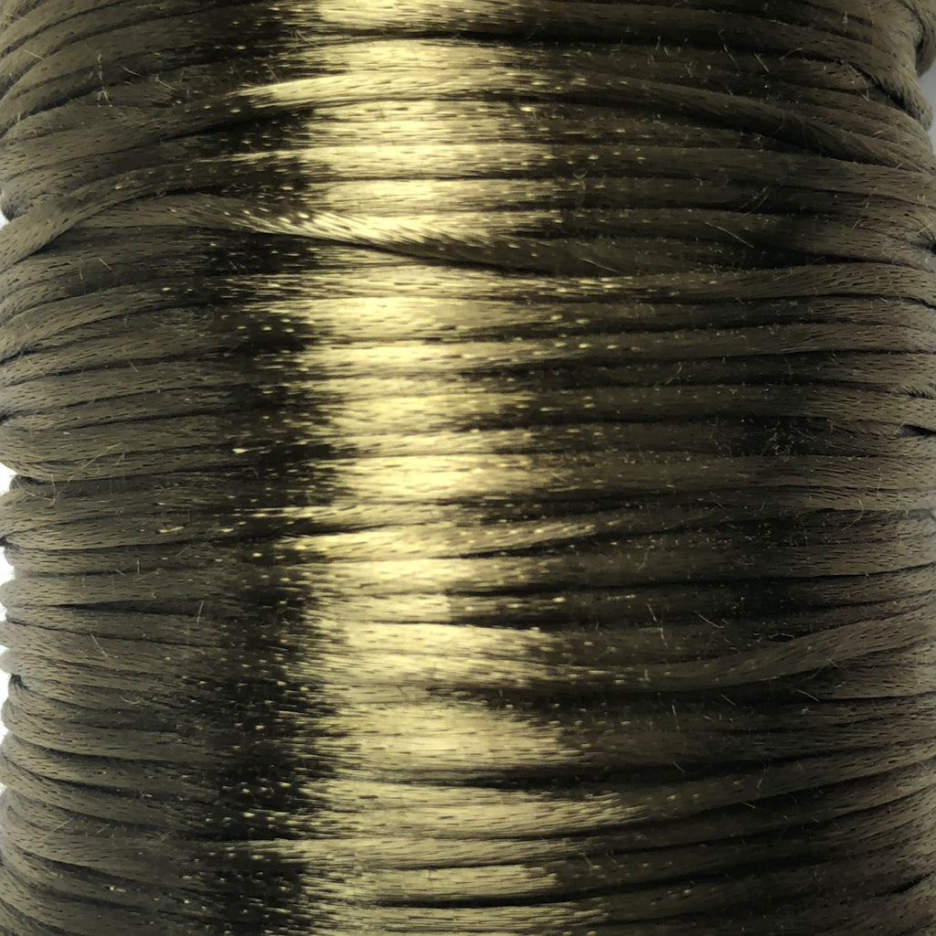 Size #1 - 2MM Coffee Satin Cord (Rattail) 144 Yds