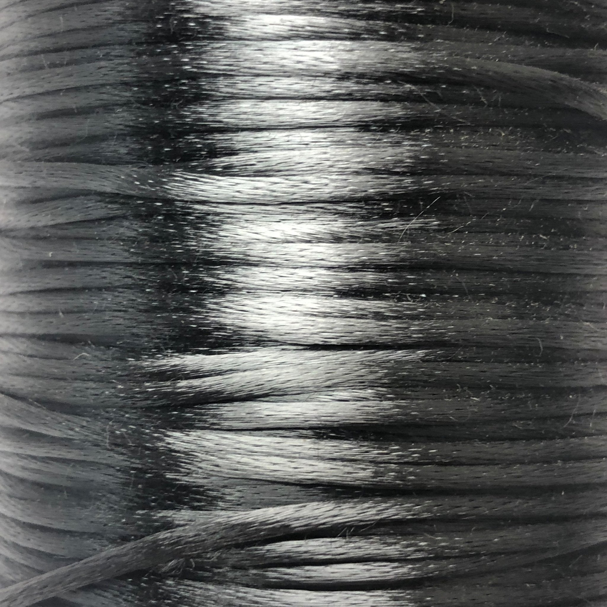 Size #2 - 3MM Dark Grey Satin Cord (Rattail) 144 Yds