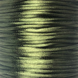Size #2 - 3MM Dark Olive Satin Cord (Rattail) 144 Yds